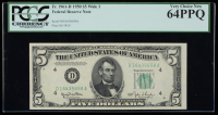 1950 $5 Cleveland Federal Reserve Bank Note (PCGS Very Choice New 64 PPQ) at PristineAuction.com