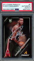 Giannis Antetokounmpo Signed 2013-14 Pinnacle #5 RC (PSA Encapsulated) at PristineAuction.com