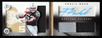 Khalil Mack 2014 Panini Playbook Gold #136 Jersey Autograph at PristineAuction.com