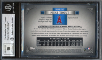 Mike Trout 2012 Bowman Sterling Rookie Autographs #MT (BGS 9) at PristineAuction.com