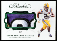 Clyde Edwards-Helaire 2020 Panini Flawless Collegiate Rookie Patches Emerald #17 at PristineAuction.com