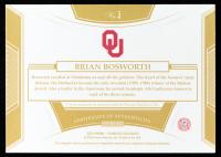 Brian Bosworth 2020 Panini Flawless Collegiate Team Slogan Signatures #5 at PristineAuction.com