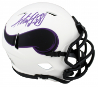 Adrian Peterson Signed Vikings Lunar Eclipse Alternate Speed Mini Helmet (Beckett COA) at PristineAuction.com