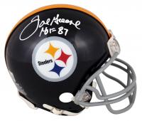 "Joe Greene Signed Steelers Mini Helmet Inscribed ""HOF 87"" (Beckett Hologram) at PristineAuction.com"