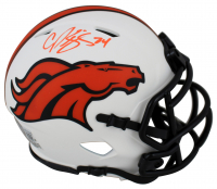Champ Bailey Signed Broncos Lunar Eclipse Alternate Speed Mini Helmet (Beckett Hologram) at PristineAuction.com