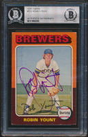 Robin Yount Signed 1975 Topps #223 RC (BGS Encapsulated) at PristineAuction.com