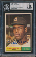 Bob Gibson Signed 1961 Topps #211 (BGS Encapsulated) at PristineAuction.com