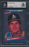Jose Canseco Signed 1986 Donruss #39 RC (BGS Encapsulated) at PristineAuction.com