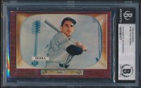 Yogi Berra Signed 1955 Bowman #168 (BGS Encapsulated) at PristineAuction.com