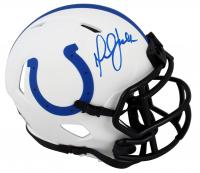Marshall Faulk Signed Colts Lunar Eclipse Alternate Speed Mini Helmet (Beckett Hologram) at PristineAuction.com