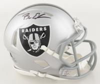 Bryan Edwards Signed Raiders Speed Mini Helmet (Beckett Hologram) at PristineAuction.com