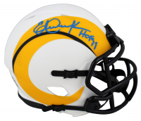 "Eric Dickerson Signed Rams Lunar Eclipse Alternate Speed Mini Helmet Inscribed ""HOF 99"" (Beckett COA) at PristineAuction.com"