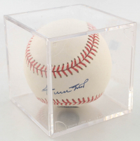 Willie Mays Signed OML Baseball with Display Case (JSA Hologram) at PristineAuction.com