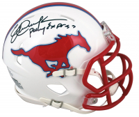 """Eric Dickerson Signed SMU Mustangs Speed Mini Helmet Inscribed """"Pony Express"""" (Beckett COA) at PristineAuction.com"""