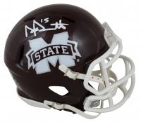 Dak Prescott Signed Mississippi State Bulldogs Speed Mini Helmet (Beckett Hologram) at PristineAuction.com