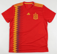 Andres Iniesta Signed Team Spain Jersey (Beckett COA) at PristineAuction.com