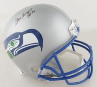 "Steve Largent Signed Seahawks Full-Size Throwback Helmet Inscribed ""HOF '95"" (Beckett COA) (See Description) at PristineAuction.com"