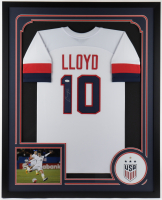 Carli Lloyd Signed 35x43 Custom Framed Jersey (JSA COA) at PristineAuction.com