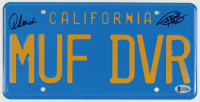"""Cheech Marin & Tommy Chong Signed """"Up in Smoke"""" 6x12 License Plate (Beckett COA) at PristineAuction.com"""