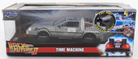 "Michael J. Fox & Christopher Lloyd Signed ""Back to the Future II"" DeLorean Time Machine 1:24 Scale Die-Cast Car (Beckett COA & Celebrity Authentics Hologram) at PristineAuction.com"