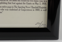 "Stan Musial Signed LE Cardinals 19x25 Custom Framed Print Display Inscribed ""HOF 69"" (JSA COA) at PristineAuction.com"