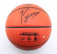 Kristaps Porzingis Signed NBA Game Ball Series Basketball (Steiner Hologram & Fanatics Hologram) at PristineAuction.com