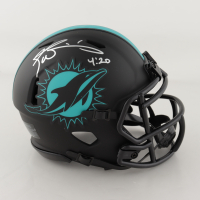 "Ricky Williams Signed Dolphins Eclipse Alternate Speed Mini Helmet Inscribed ""4:20"" (JSA COA) (See Description) at PristineAuction.com"