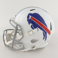 Andre Reed Signed Bills Full-Size Speed Helmet (Beckett COA) at PristineAuction.com