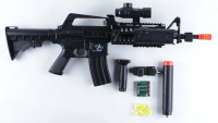 """Jon Bernthal Signed """"Punisher"""" Replica Assault Rifle Airsoft Gun With Hand Drawn Sketch (Radtke COA) (See Description) at PristineAuction.com"""