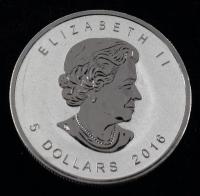 2016 Elizabeth II Canada $5 Five Dollar Maple Leaf Bullion Round at PristineAuction.com