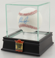 Nolan Ryan Signed Houston OML Baseball with High Quality Display Case & HOF Pin (PSA COA) at PristineAuction.com