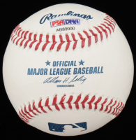 Nolan Ryan Signed Houston OML Baseball with High Quality Display Case & HOF Pin (PSA COA) at PristineAuction.com