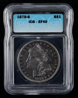 1878-S Morgan Silver Dollar (ICG EF40) at PristineAuction.com