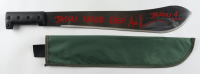 "Ari Lehman Signed ""Friday the 13th"" Steel Machete with Canvas Sheath Inscribed ""Jason Never Dies!"" & ""Jason 1"" (Beckett COA) (See Description) at PristineAuction.com"