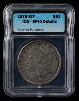 1878 Morgan Silver Dollar (ICG EF40 Details) at PristineAuction.com