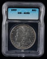 1900 Morgan Silver Dollar (ICG AU55) at PristineAuction.com