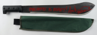 "Ari Lehman Signed ""Friday the 13th"" Steel Machete with Canvas Sheath Inscribed ""Machete Is Ready!"" & ""Jason 1"" with Canvas Sheath (Beckett COA) (See Description) at PristineAuction.com"