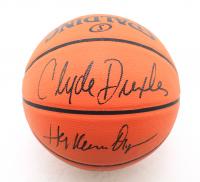Hakeem Olajuwon & Clyde Drexler Signed NBA Game Ball Series Basketball (JSA COA) at PristineAuction.com