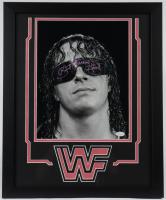"Bret ""Hitman"" Hart Signed 18x22 Custom Framed Photo Display (JSA COA) at PristineAuction.com"