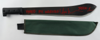 "Ari Lehman Signed ""Friday the 13th"" Steel Machete with Canvas Sheath Inscribed ""Heed My Warning!"" & ""Jason 1"" (Beckett COA) (See Description) at PristineAuction.com"