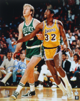 Larry Bird Signed Celtics 16x20 Photo (Bird Hologram) at PristineAuction.com