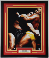 Hulk Hogan Signed 22x26 Custom Framed Photo Display (JSA COA) at PristineAuction.com