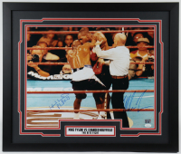 Mike Tyson & Evander Holyfield Signed 22x26 Custom Framed Photo Display (JSA COA & Fiterman Hologram) at PristineAuction.com