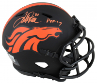 "Terrell Davis Signed Broncos Eclipse Alternate Speed Mini-Helmet Inscribed ""HOF 17"" (Beckett Hologram) at PristineAuction.com"