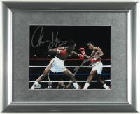 Sugar Ray Leonard & Thomas Hearns Signed 16x13 Custom Framed Photo Display (Beckett COA) (See Description) at PristineAuction.com