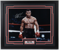 Mike Tyson Signed 22x26 Custom Framed Photo Display (Fiterman Hologram) at PristineAuction.com