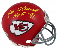 "Jan Stenerud Signed Chiefs Throwback Mini-Helmet Inscribed ""HOF '91"" (Beckett Hologram) at PristineAuction.com"