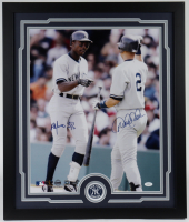 Derek Jeter & Alfonso Soriano Signed Yankees 22x26 Custom Framed Photo Display (JSA LOA & Mounted Memories Hologram) at PristineAuction.com