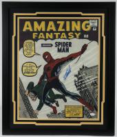"Stan Lee Signed ""Spiderman"" 22x26 Custom Framed Print Display (JSA COA) at PristineAuction.com"