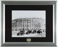 Old Yankee Stadium 13x16 Custom Framed Photo Display with Yankee Stadium Lapel Pin (See Description) at PristineAuction.com